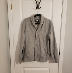 ROOTS Grey Button Up Sweatshirt Cardigan
